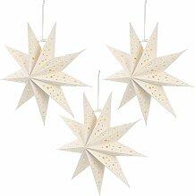 Luxshiny 3Pcs Papier Étoiles Lanternes Plafond