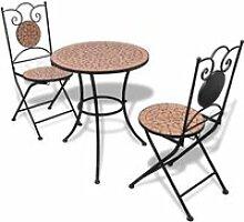 Luxueux Table de bistro 60 cm et 2 chaises