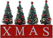 LUYIYI Arbre de Noël artificiel Lettre de bureau