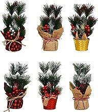 LUYIYI Mini arbre de Noël artificiel, plateau de