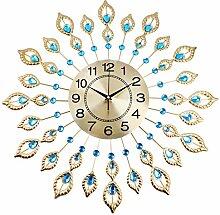 LUYLOG Horloge Murale Silencieuse Cristal Style