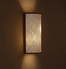 Luyshts Applique murale LED en bambou et osier