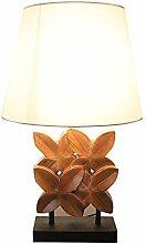 LWX Chambre Lampe De Table D'érable Moderne
