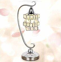 LWX Lampe de bureau à LED de Crystal européen et