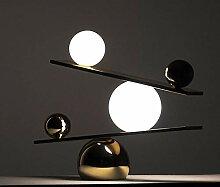 LWX Lampe De Bureau, Lampe en Verre en Marbre De