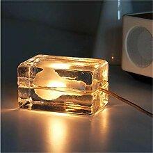 LWX Lampe de Table de Glace en Verre Moderne
