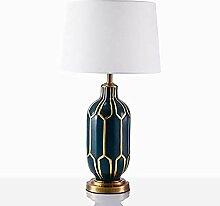 LWX Lampe en céramique Bleue continentale Lampe