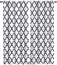 LWXBJX Rideau occultant Thermiques - Blanc Grille
