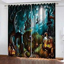 LWXBJX Rideaux Chambre Enfant - Halloween