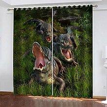 LWXBJX Rideaux Occultant Chambre - Crocodile dans