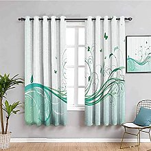 LWXBJX Rideaux Occultant Chambre - Vert Plante