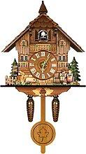 LWZ Horloge Murale Coucou, réveil Coucou, rétro