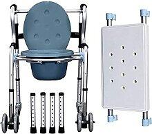 LXBH Chaise De Toilette À roulettes, Chaise