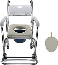 LXBH Chaise De Toilette À roulettes/sur Rouleau
