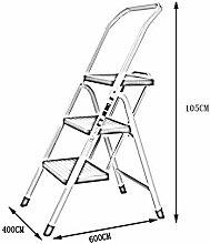 LXDZXY Les Escaliers En Pliant Ladder Ménage