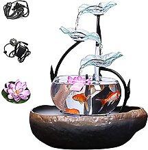 LXHJZ Cascafontaine d'intérieur avec Aquarium