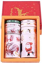 Lychii 10pcs Multi-Pattern Christmas Washi Tape