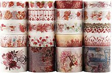 Lychii 20 Rolls Multi-pattern Washi Tape Ruban