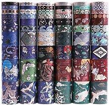 Lychii 60 Rolls Multi-Pattern Washi Tape Ruban