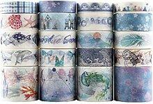 Lychii Multi-Pattern Washi Tape Ruban Adhésif