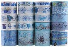 Lychii Washi Tape Set, 20 Rouleaux Ruban Adhésif