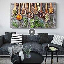LYHNB Toile Mur Art 50x70cm Pas de Cadre Épices