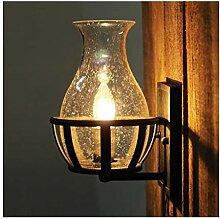 LYLSXY Lampe Murale, Lumière Murale Vintage Verre