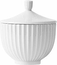 Lyngby Porcelæn bonbonnière, Porcelaine, Bianco,