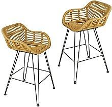 LYRWISHPB Tabouret de Bar Chaise en Osier Table