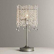 Lzpzz Lampe de Table française K9 Crystal Lampe