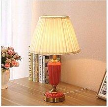LZQBD Lampes de Table, Lampe de Bureau Céramique