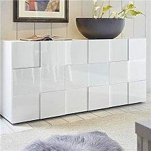 M-012 Buffet 3 Portes Blanc laqué Design SANDREA