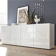 M-012 Buffet Blanc laqué 240 cm Design ELMA, 4