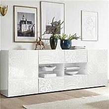 M-012 Buffet Blanc laqué 240 cm Design ELMA