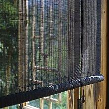 M-MIAO Store Venitien Bois Noir,Store Bambou
