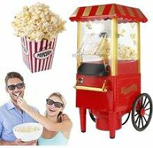 Machine à pop corn sans huile 1200W rouge