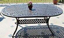 Made for us® Table de jardin ovale en fonte
