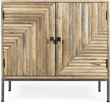 Made In Meubles - Buffet design relief 2 portes -