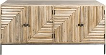 Made In Meubles - Buffet design relief 4 portes -