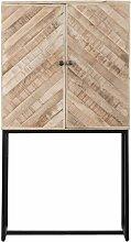 Made In Meubles - Buffet haut motifs chevrons bois