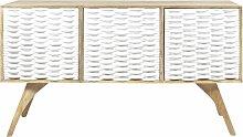 Made In Meubles - Buffet scandinave blanc design