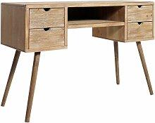 Made In Meubles - Bureau scandinave patine bois