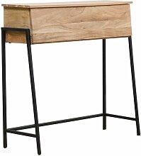 Made In Meubles - Bureau secrétaire abattant bois