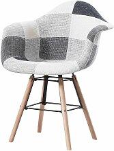Made4us - LEANA - 1 fauteuil scandinave - Tissu -