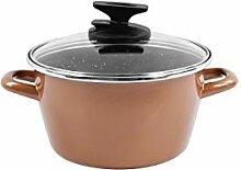Magefesa Copper Copper Marmite avec couvercle de