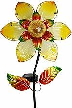 MAGGIFT Lampe solaire de jardin en forme de fleur