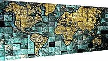 Magic Canvas Art - Images carte du monde
