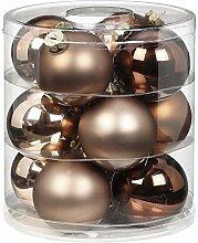 Magic Lot de 12 boules de Noël en verre 8 cm