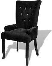 Magnifique Chaise capitonnee noir 54 x 56 x 106 cm