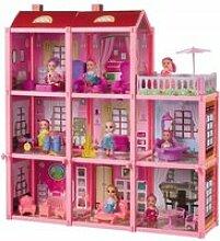 Maison de poupée 8 chambres terrasse mobilier 3